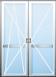Balkónové dveře dvoukřídlé