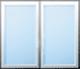 Dvoukřídlé okno (pevné zasklení)