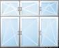 Trojkřídlé okno s nadsvětlíkem